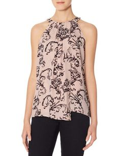 In XS - Printed Wrap Front Halter Top from THELIMITED.com