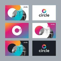 Gradient circle branding by kakhadzen Brand Identity Design, Corporate Design, Corporate Branding, Identity Branding, Charity Branding, Circle Logos, Social Media Design, Graphic Design Inspiration, Circle Graphic Design