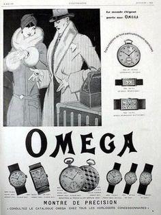 Wonderful 1929 Omega watch ad