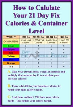 21+Day+Containers | How to Calculate Your 21 Day Fix Calorie and Container Level