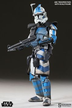 Star Wars: Arc Clone Trooper Fives Phase II Armor, Deluxe-Figur (voll beweglich) . Star Wars Helm, Star Wars Saga, Star Wars Fan Art, Star Wars Clone Wars, Star Wars Logos, Star Wars Poster, Star Wars Pictures, Star Wars Images, Chewbacca