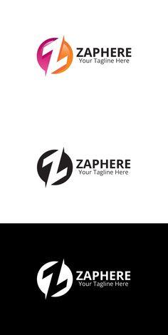 Zaphere Z-letter Logo design Initials Logo, Monogram Logo, Logo Design Template, Logo Templates, Typography Logo, Logos, Ns Logo, Rustic Sofa, Logo Shapes