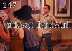 """Friends #147 - """"Chandler's a girl! Chandler's a girl!"""""""