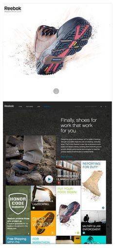 Reebok Web Design