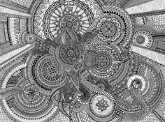 Big Abstract Coloring Pages : Pin by irma meyer on coloring pages mandala art and