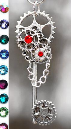 My Steampunk Gears Key Necklace by KeypersCove on Etsy, $26.99 http://www.etsy.com/shop/KeypersCove