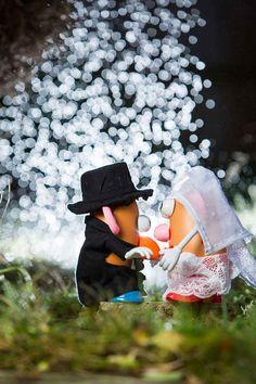 Congratulations! | Wedding Photographer Stages Potato Head Wedding To Explain His Job To His Son
