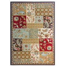 Lanart Rugs - Red Patchwork Area Rug 7 Feet 8 Inches x 10 Feet - PATCH810RD - Home Depot Canada