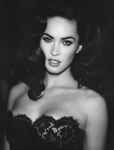 Megan Fox. Kinda reminds me of Elizabeth Taylor