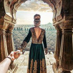#followmeto Chand Baori steps near Jaipur, India with @natalyosmann
