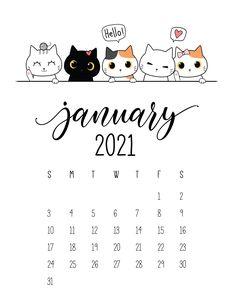 Cat Calendar, Calendar Wallpaper, Print Calendar, Calendar Design, 2021 Calendar, September Calendar, Printable Calendar Template, Free Printables, Bullet Journal Ideas Pages
