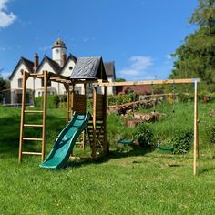 Get the kids out into the garden with a fun and adventourous wooden climbing frame! Wooden Climbing Frame, Climbing Frames, Childrens Garden Toys, Buried Treasure, Garden Buildings, Heart For Kids, Play Houses, Stuff To Do, Cabin