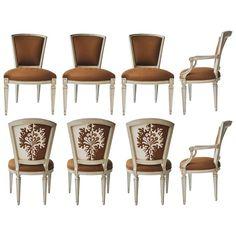 Set of Eight William Switzer Louis XVI Style Dining Chairs    1stdibs.com