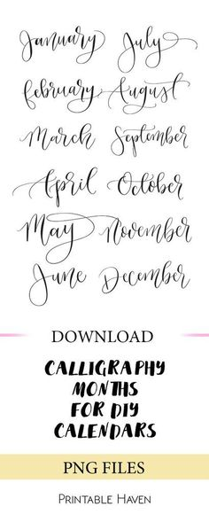 Calendar Lettering Best Picture For Art journal For Your Taste You are looking for something, and it is going to Creative Lettering, Brush Lettering, Hand Lettering Practice, Calligraphy Practice, Lettering Styles, Bujo, Calligraphy Letters, Calligraphy Doodles, Calligraphy Quotes