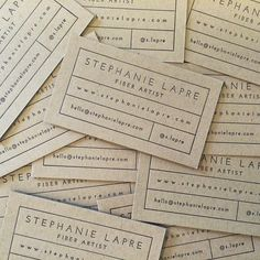 I love how minimal the back of these business cards look for @s.lapre. Can't wait to show you the front with the logo I designed for her!