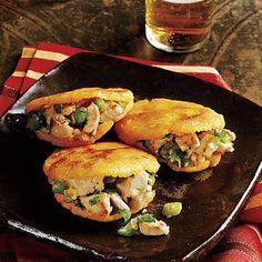 Colombia vs. Brazil World Cup Match Day Dish: Colombian Turkey Flatbread Sandwiches (Turkey Arepas) | CookingLight.com