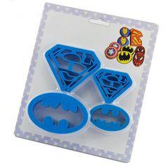 4 pcs Home Kitchen Baking & Pastry Tools Cookie Super Hero Batman…