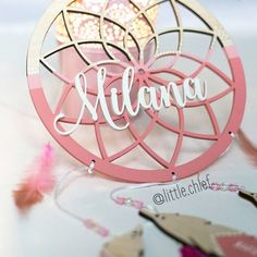 Custom name wooden dreamcather by Little Chief, perfect nursery decor  - Milana