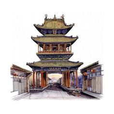 Classic ancient Chinese architectures