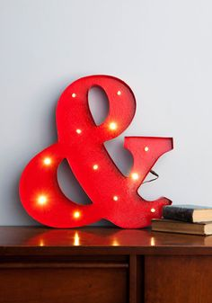 "ampersand light aka the ""lampersand"" Decorative Accessories, Home Accessories, Vintage Decor, Retro Vintage, Home And Deco, Dorm Decorations, Modcloth, Cubes, Sweet Home"
