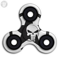 Top1VA Army Star Skull Logo New Style Cool Finger Spinner Stress Reducer Hand Toy Tri-Spinner Fidget Finger Toy For Kids And Adult - Fidget spinner (*Amazon Partner-Link)