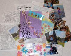 Raveena (19) June 2015  *cut pocket folder to correct size  *letter theme: US schools; geographic location of where we live; seasons; future job plan *items sent: stickers, photos, bookmark, scrapbook papers, advanced coloring pattern pages, seasons photos; map with line between our location and her location