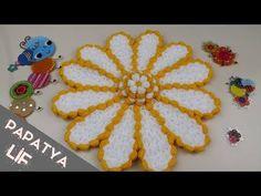 Crochet Flower Tutorial, Crochet Flowers, Daisy, Kids Rugs, Make It Yourself, Crafts, Youtube, Seals, Towels