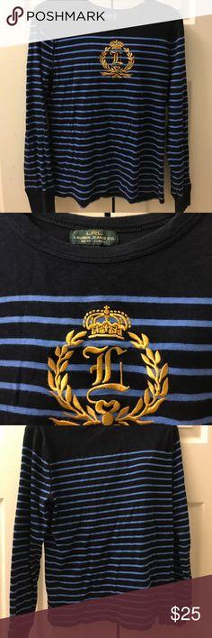 Long sleeve shirt Ralph Lauren stripe long sleeve woman's shirt Lauren Ralph Lauren Tops Tees - Long Sleeve