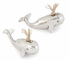 Great Spouting Whale Salt and Pepper Shaker Set 3.5 Inch…