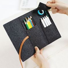 Minimalist Case Felt Pencil wrap case Artist tool roll Pencil gift art Gift for painter School Supplies  #artist #minimalist #painter #pencil #school #supplies Artist Pencil Case, Artist Pencils, Roll Up Pencil Case, Diy Pencil Case, Costura Diy, Tool Roll, Diy Crafts To Do, Pencil Bags, Pencil Pouch