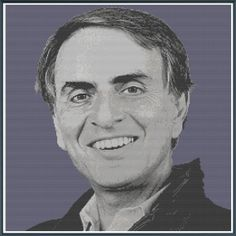 Carl Sagan - Black and White - Counted Cross Stitch Pattern by RussellsTeapot, $10.00