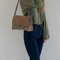 Eclipse handmade crochet bag with genuine suede leather – Urban Queen – Official Site Handmade Bags, Suede Leather, Spring Summer, Urban, Shoulder Bag, Queen, Crochet, Fashion, Moda
