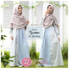 5973354d0 Gamis Zizara Brenna Dress 01 Soft Blue - baju muslim wanita baju muslimah  Kini hadir untukmu