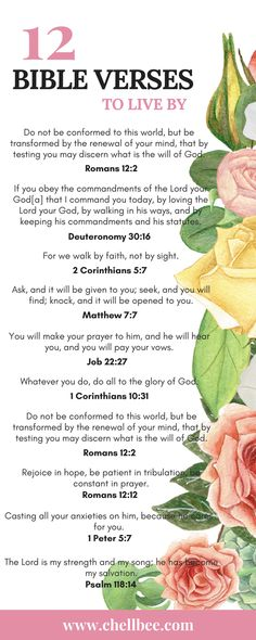 12 Bible Verse to Live By Bible verses for encouragement, hard times, strength, and inspiration. Bible verse to live by Prayer Scriptures, Bible Prayers, Prayer Quotes, Faith Quotes, Positive Bible Verses, Encouraging Bible Quotes, Prayer Ideas, Bible Verses For Women, Bible Verses For Encouragement