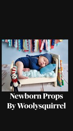 Newborn Photo Props, Newborn Photos, Textile Art, Newborn Photography, Fiber Art, Squirrel, Toddler Bed, Felt, Textiles