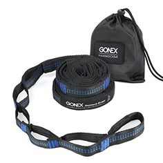 Hammock Straps Gonex 2 Sets Hanging Tree Straps with 32 Loops Combined 20 Ft Long Heavy Duty 500 LBS No Stretch Easy Setup BlackBlue ** Click for Special Deals #HammockStraps Hammock Straps, Special Deals, 2 Set, Lawn, Patio, Blue, Color, Colour, Terrace