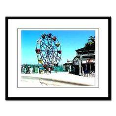 Balboa ferris wheel Large Framed Print
