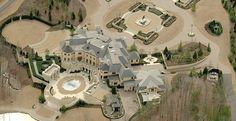 Le Reve Mansion And Estate During Landscaping - Around 2005