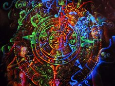 A small 120x120 cm blacklight painting I was painting this totally spaced out in darkness feeding my inspiration with psytrance music. In some point the tingly sensation caused by UV-light turned i...