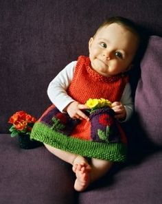 Free Baby Knitting Patterns (What a precious little model!)