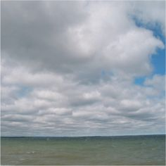 Patchy stratocumulus clouds over open water