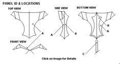 Kite Plans of the Angled Wing II Cultura Maker, Angle Wings, Kites, Straight Stitch, Extra Fabric, Angles, Patches, How To Plan, Manualidades