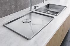 Stainless steel sink with drainer BLANCO ATTIKA 60-T Blanco Attika Collection by Blanco