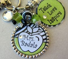 Teacher Gift  PERSONALIZED Name Teach Love Inspire by buttonit, $23.00