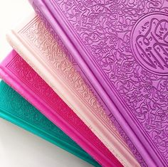 Beautifully bound, Italian leather embossed Quran. The color POP continues inside with each Juz highlighted by it's own vibrant color. Clear flowing Uthmani Arabic text throughout