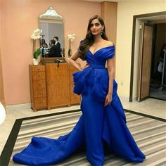 Aliexpress.com : Buy Royal Blue Evening Dress 2016 vestido de festa V Neck Off the Shoulder Long Formal Evening Prom Dress from Reliable dress up games wedding dress suppliers on idodress  | Alibaba Group