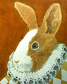 Victorian Rabbit IV Art Prints by Wendy DeWitt - Shop Canvas and Framed Wall Art Prints at Imagekind.com