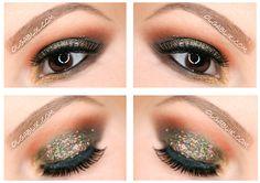 Glitter Smoky Eye Makeup #Makeup #glitter #maccosmetics #eyeshadow #smokyeyes #LITCOSMETICS #Glitterpigment #glitterbase #base #eyes