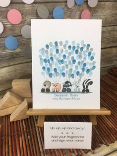 Woodland themed baby shower | boys woodland thumbprint guestbook | fingerprint sign in | guestbook alternative | forest nursery