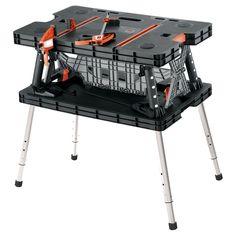 Keter Folding Work Table w/ Adjustable Legs